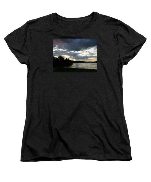 Overcast Morning Along The River Women's T-Shirt (Standard Cut) by Skyler Tipton
