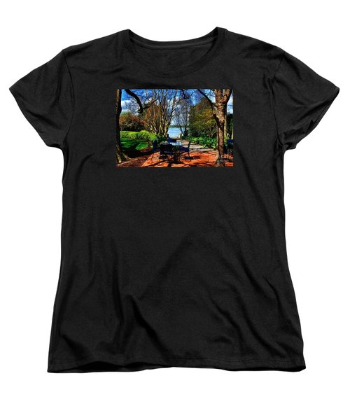 Overlook Cafe Women's T-Shirt (Standard Cut) by Diana Mary Sharpton