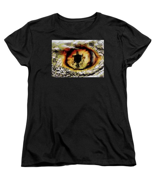 Women's T-Shirt (Standard Cut) featuring the digital art Overwhelmed Remember Him by Ernie Echols