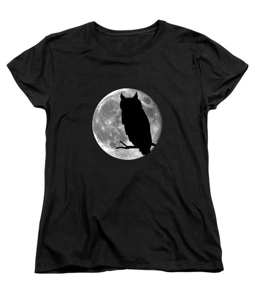 Owl Moon .png Women's T-Shirt (Standard Cut) by Al Powell Photography USA