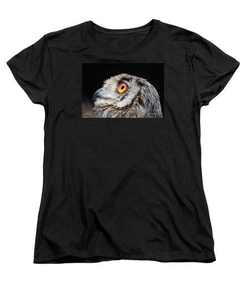 Owl The Grand-duc Women's T-Shirt (Standard Cut) by Mary-Lee Sanders