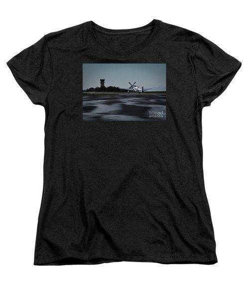 P-51  Women's T-Shirt (Standard Cut) by Douglas Stucky