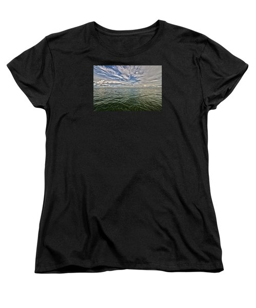Paint Brush Sky - Ft Myers Beach Women's T-Shirt (Standard Cut) by Christopher L Thomley