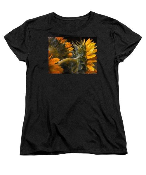Women's T-Shirt (Standard Cut) featuring the photograph Painted Sun Flowers by John Rivera