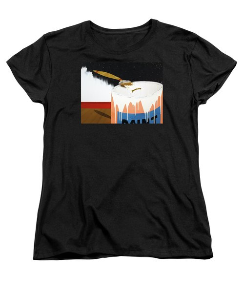 Painting Out The Sky Women's T-Shirt (Standard Cut) by Thomas Blood
