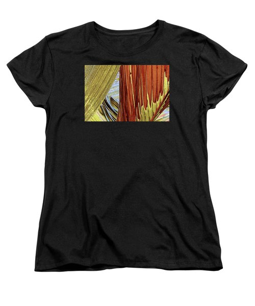 Women's T-Shirt (Standard Cut) featuring the photograph Palm Leaf Abstract by Ben and Raisa Gertsberg