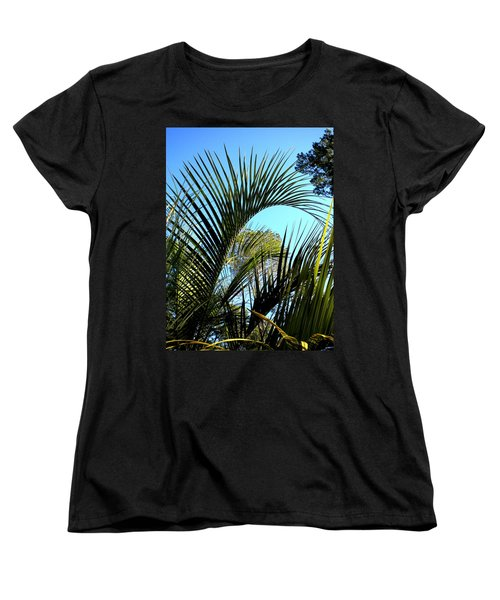 Women's T-Shirt (Standard Cut) featuring the painting Palmetto 2 by Renate Nadi Wesley