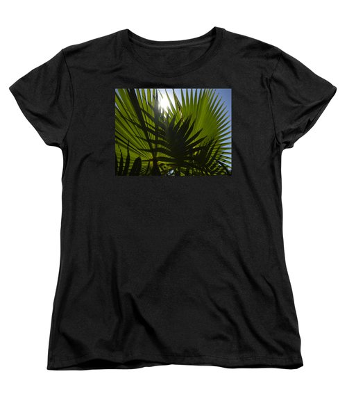 Women's T-Shirt (Standard Cut) featuring the photograph Palmetto 3 by Renate Nadi Wesley