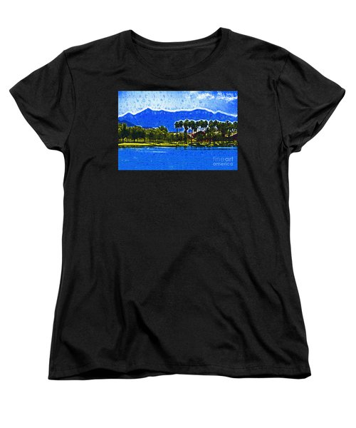 Palms And Mountains Women's T-Shirt (Standard Cut) by Kirt Tisdale