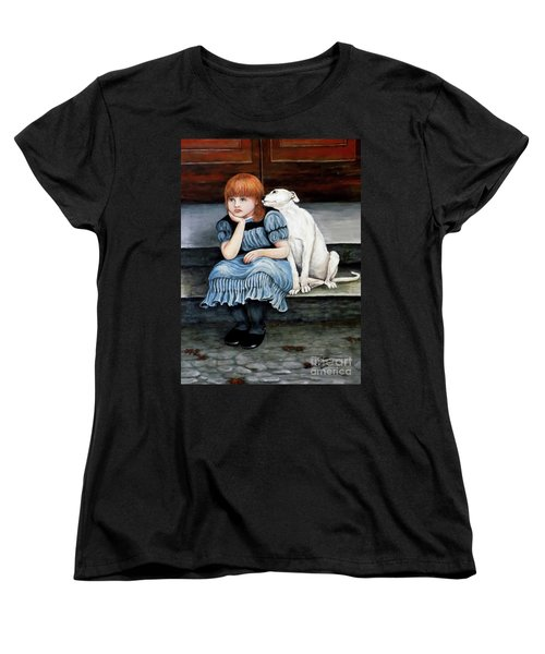 Women's T-Shirt (Standard Cut) featuring the painting Pals Forever by Judy Kirouac