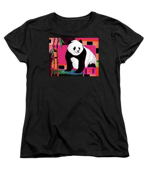 Panda Abstrack Color Vision  Women's T-Shirt (Standard Cut) by Alban Dizdari