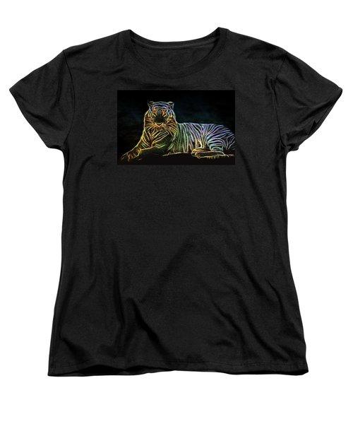 Women's T-Shirt (Standard Cut) featuring the digital art Panthera Tigris by Aaron Berg