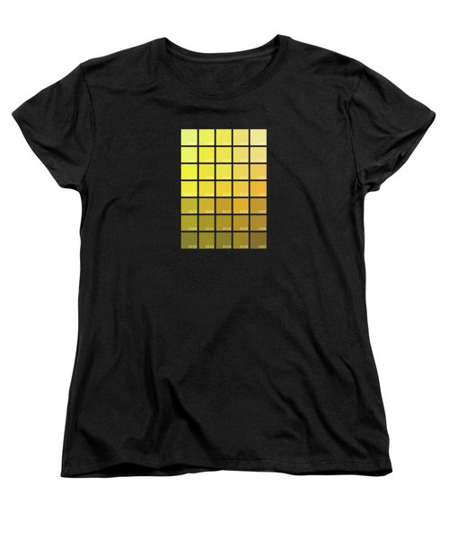 Pantone Shades Of Yellow Women's T-Shirt (Standard Fit)