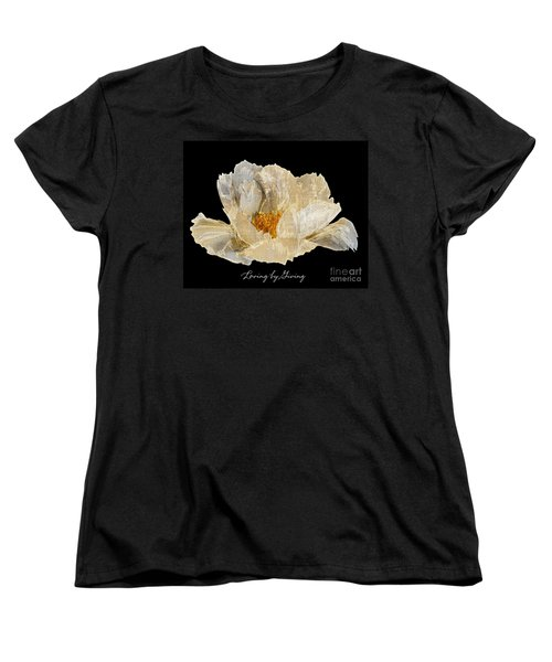 Paper Peony Loving By Giving Women's T-Shirt (Standard Cut) by Diane E Berry