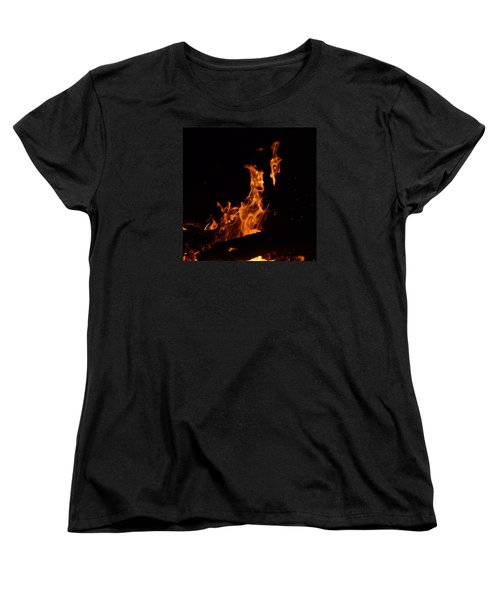 Pareidolia Fire Women's T-Shirt (Standard Cut) by Janet Rockburn