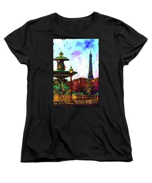 Paris Women's T-Shirt (Standard Cut) by DC Langer