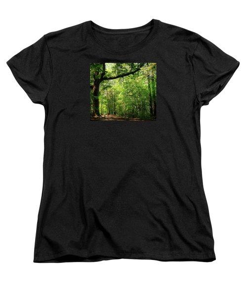 Paris Mountain State Park South Carolina Women's T-Shirt (Standard Cut) by Bellesouth Studio