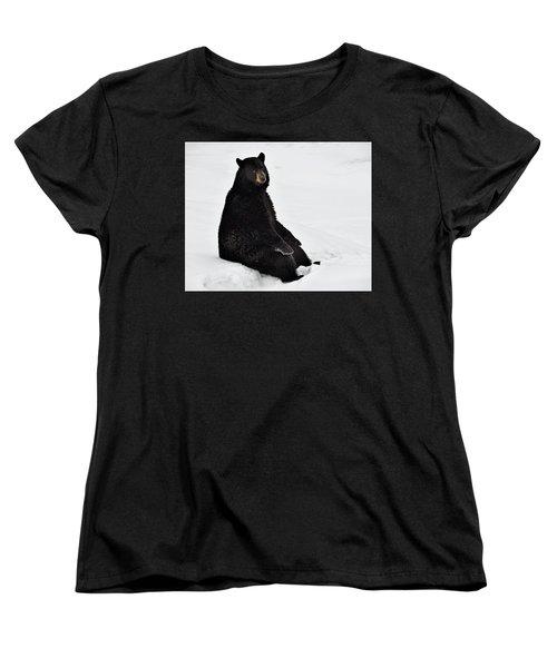 Women's T-Shirt (Standard Cut) featuring the photograph Park Bench by Tony Beck