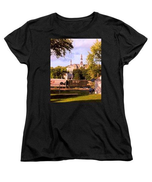 Women's T-Shirt (Standard Cut) featuring the photograph Park University by Steve Karol