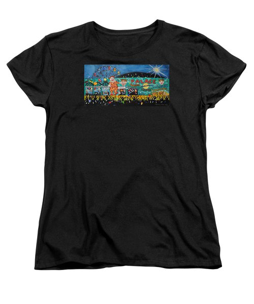 Women's T-Shirt (Standard Cut) featuring the painting Party At The Palace by Patricia Arroyo