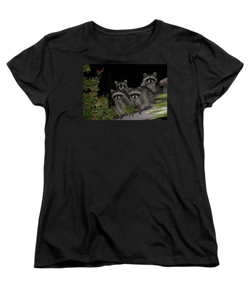 Party Of Five On The Roof Top Women's T-Shirt (Standard Cut) by Nina Prommer