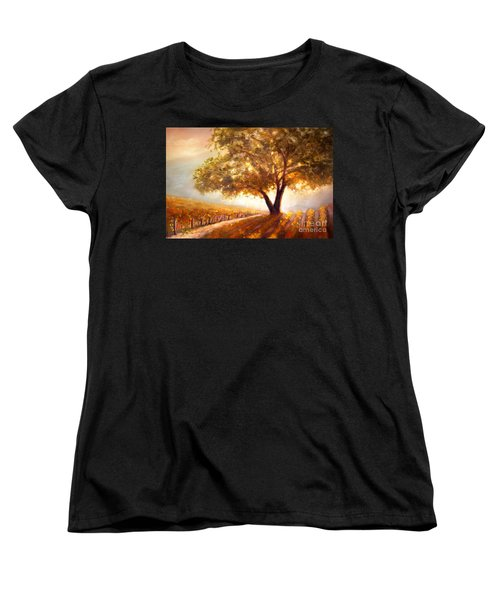 Paso Robles Golden Oak Women's T-Shirt (Standard Cut) by Michael Rock