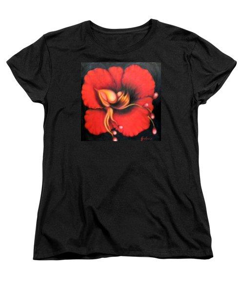 Passion Flower Women's T-Shirt (Standard Cut) by Jordana Sands