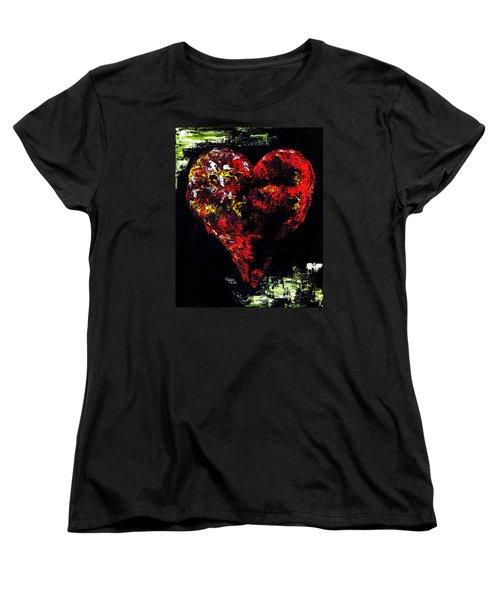 Women's T-Shirt (Standard Cut) featuring the painting Passion by Hiroko Sakai
