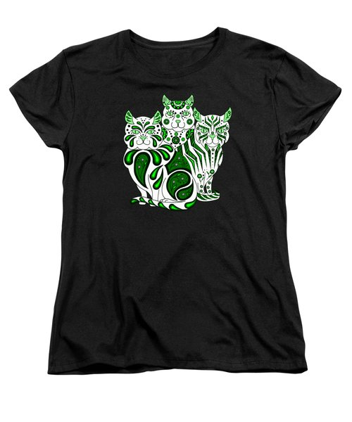 Patches, Stripes, And Bobbles In Green Women's T-Shirt (Standard Cut) by Ruanna Sion Shadd a'Dann'l Yoder