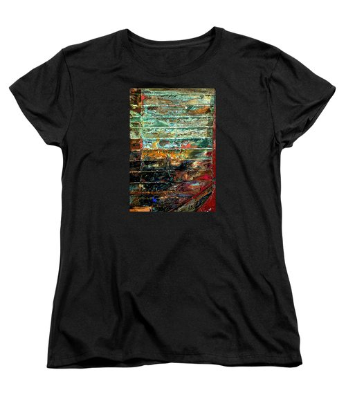 Women's T-Shirt (Standard Cut) featuring the photograph Patchworks 1 by Newel Hunter