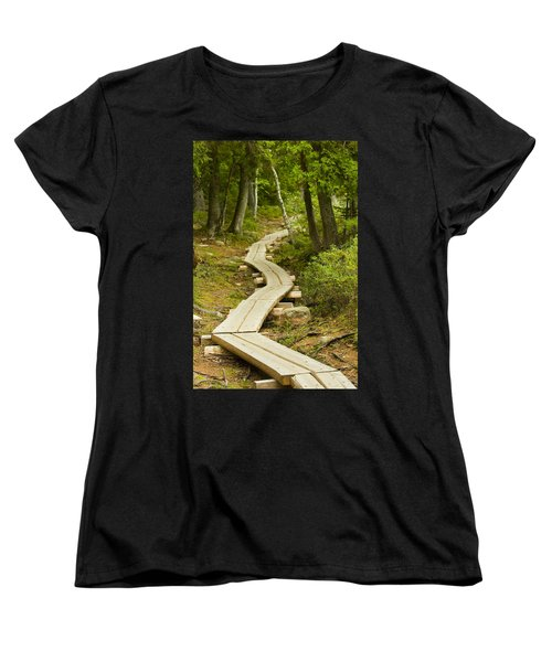 Path Into Unknown Women's T-Shirt (Standard Cut) by Sebastian Musial