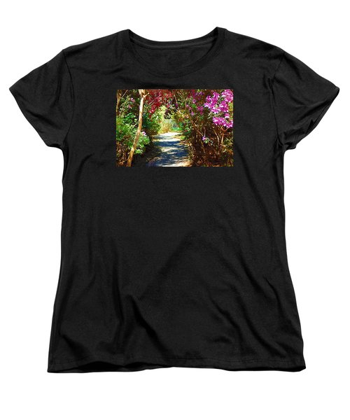 Women's T-Shirt (Standard Cut) featuring the digital art Path To The Gardens by Donna Bentley
