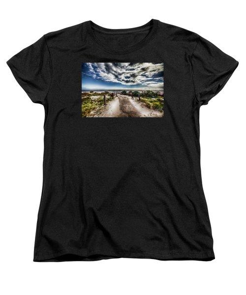 Women's T-Shirt (Standard Cut) featuring the photograph Pathway To The Beach by Douglas Barnard