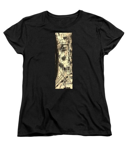 Women's T-Shirt (Standard Cut) featuring the painting Patience by Carol Rashawnna Williams