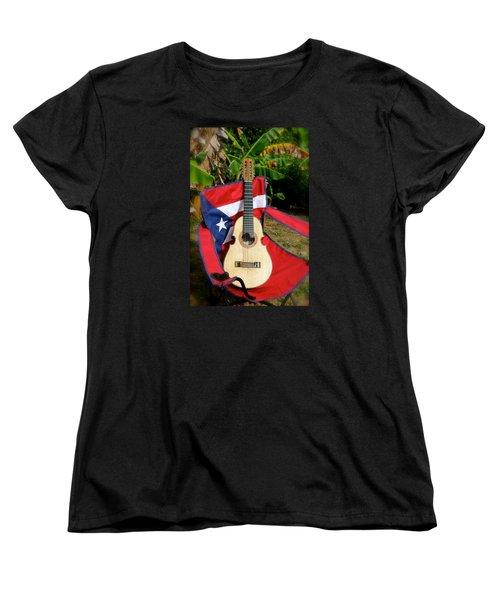 Patriotic Cuatro Women's T-Shirt (Standard Cut) by The Art of Alice Terrill