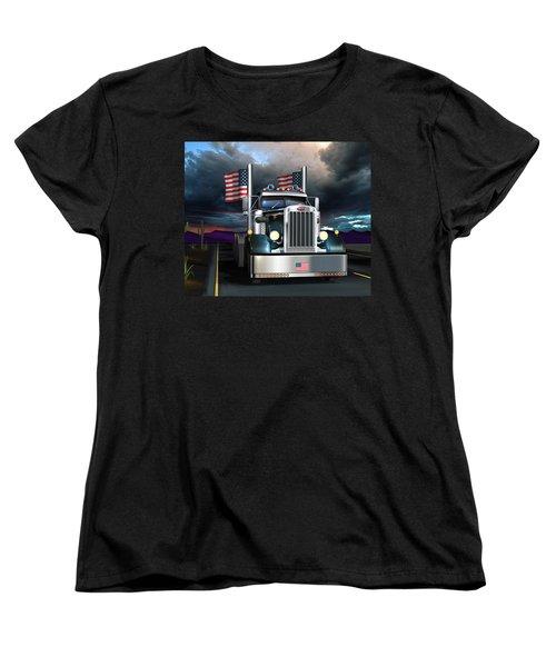 Patriotic Pete Women's T-Shirt (Standard Cut) by Stuart Swartz