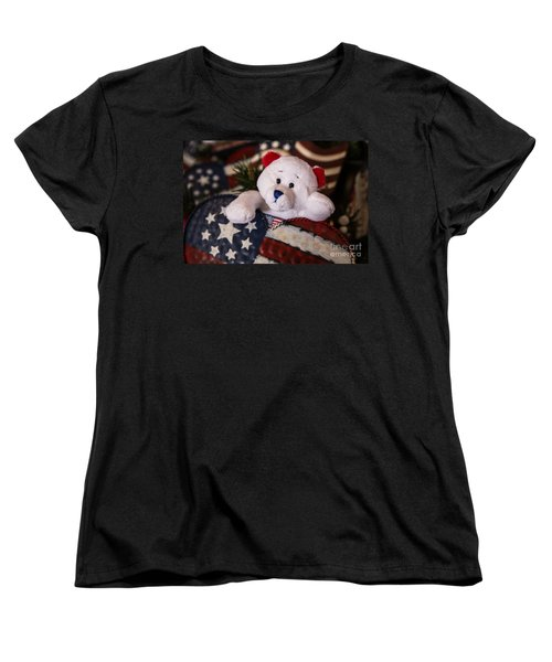 Patriotic Teddy Bear Women's T-Shirt (Standard Cut)