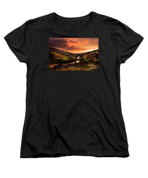 Paute River II Women's T-Shirt (Standard Cut) by Al Bourassa