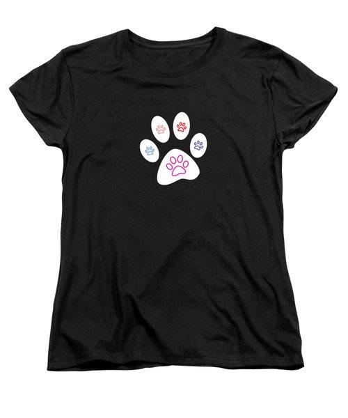 Paws Women's T-Shirt (Standard Cut) by Bill Owen