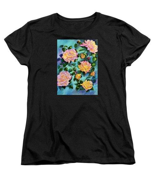 Women's T-Shirt (Standard Cut) featuring the pastel Peace Opus by Ann Peck
