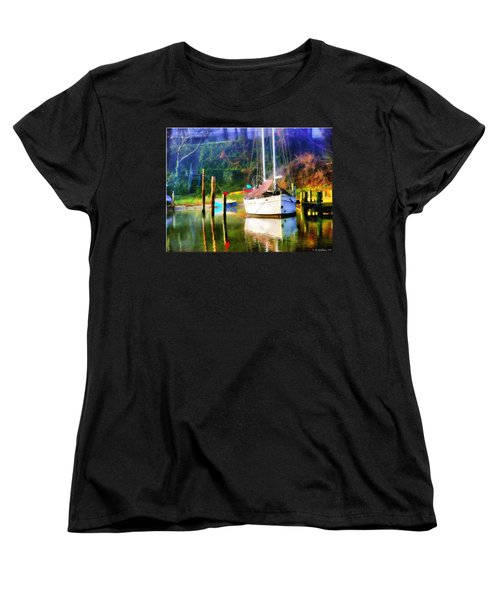 Women's T-Shirt (Standard Cut) featuring the photograph Peaceful Morning In The Cove by Brian Wallace