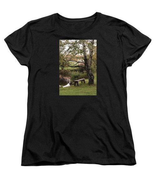 Women's T-Shirt (Standard Cut) featuring the photograph Peaceful Retreat by Margie Avellino