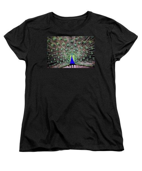 Women's T-Shirt (Standard Cut) featuring the photograph Peacock by Vivian Krug Cotton