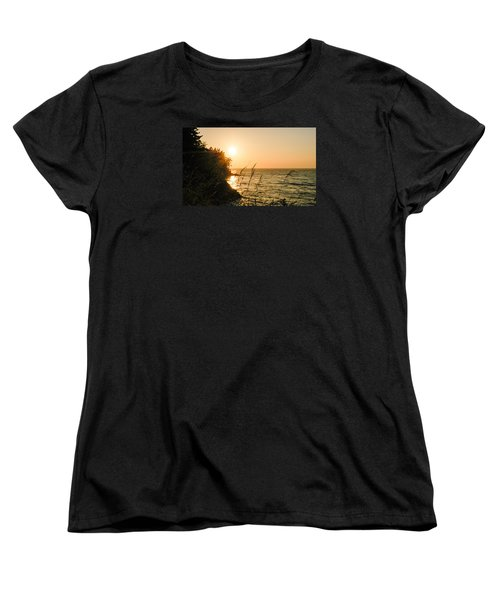 Women's T-Shirt (Standard Cut) featuring the photograph Peaking Sunset by Monte Stevens