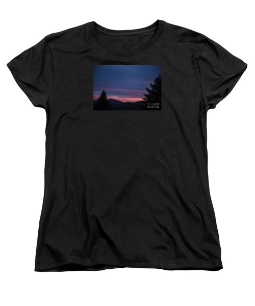 Women's T-Shirt (Standard Cut) featuring the photograph Peaks by Alana Ranney