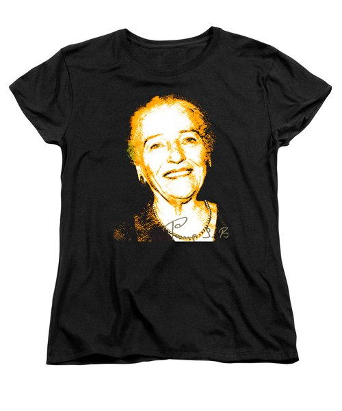Women's T-Shirt (Standard Cut) featuring the digital art Pearl Buck by Asok Mukhopadhyay