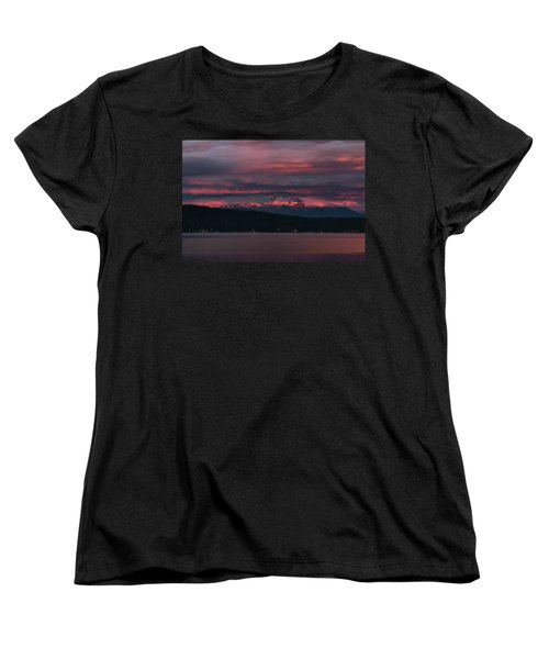 Women's T-Shirt (Standard Cut) featuring the photograph Peekaboo Sunrise by Jan Davies