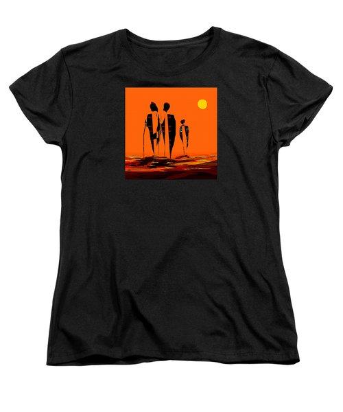 Women's T-Shirt (Standard Cut) featuring the painting Penman Origiinal-295-long Walk Home by Andrew Penman