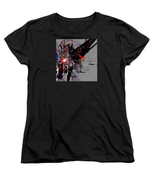 Women's T-Shirt (Standard Cut) featuring the painting Penman Original-230 Point Of Impact by Andrew Penman