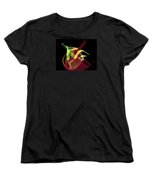 Women's T-Shirt (Standard Cut) featuring the painting Penman Original-266- Chikakos Dinner by Andrew Penman
